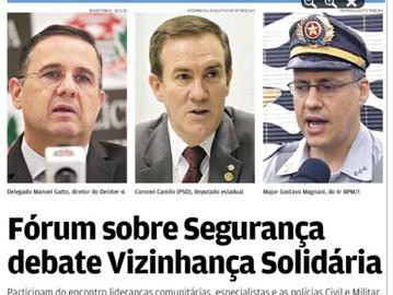 Fórum sobre segurança debate Vizinhança Solidária