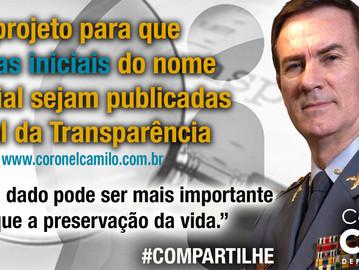 Projeto proíbe que nome de PM seja publicado no Portal da Transparência