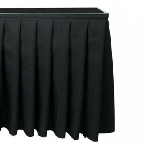 ALUDEX Pleated Skirt [inc Skirt Strip] - 2m x 40cm Drop