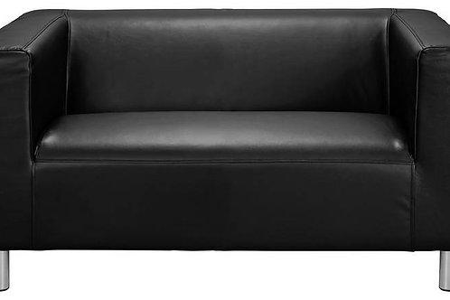 2 Seater Milan Sofa Black Leather