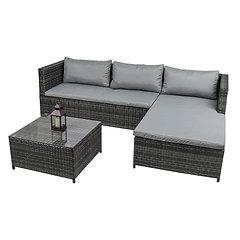 EFUK Luxury Rattan Corner Sofa Set