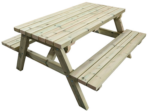5ft Light Wood Picnic Bench