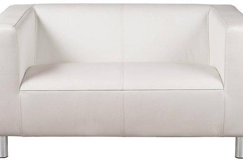 2 Seater Milan Sofa White Leather