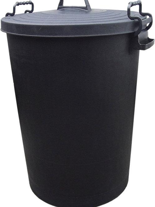 110L Heavy Duty Black Bin with Clip Lid