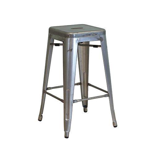 Grey Tolix Tall Stool