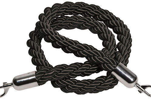 Black Traditional Rope for Barrier Post