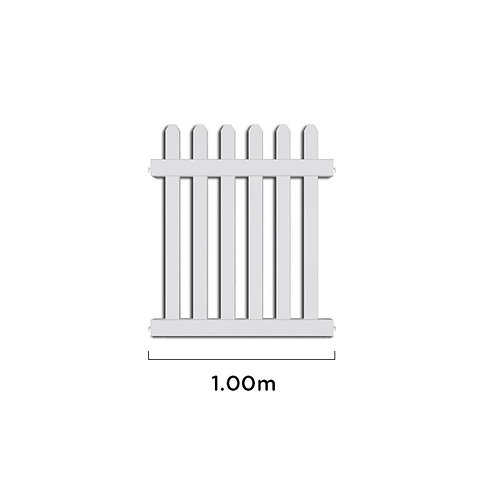 1m PIKIT PRO UPVC Picket Fence Panel & 1 Post