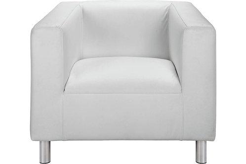 White Leather Milan Chair