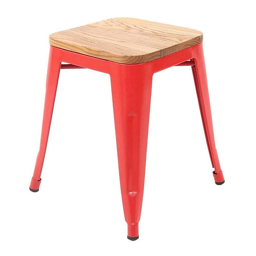 Red Tolix Low Stool