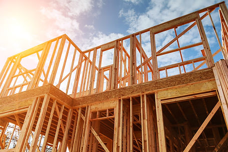 New residential construction home framin