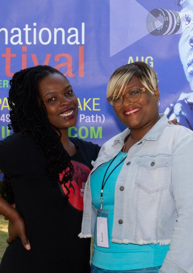 Tinisha with Sponsor Eisha Malone