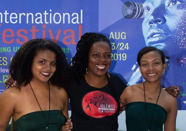 Curator/Festival Organizer Tinisha with Daughters Alicia and Allanah