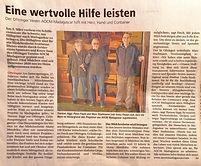 Artikel Zofinger Nachrichten 12.03.2021.