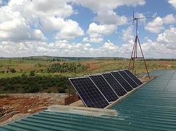 Solar- und Windanlage