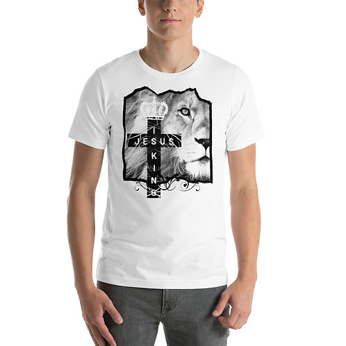 Jesus Is King Black Letters Short-Sleeve Unisex T-Shirt