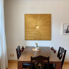 Wandbild in Gold
