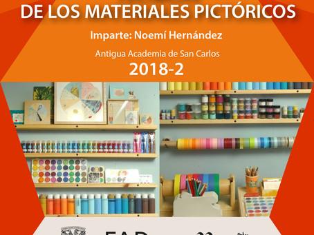 Taller de Técnicas de los Materiales Pictóricos 2018-2