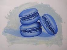 Macarrones azules