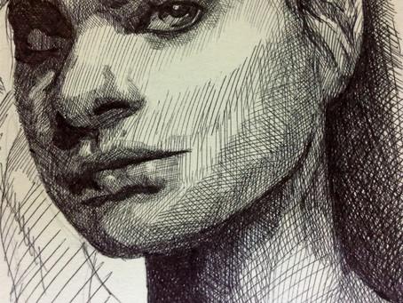 Taller de retrato con pluma/ Achurados