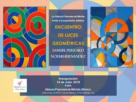 Encuentro de Luces Geométricas de Samuel Perrard y Noemi Hernández