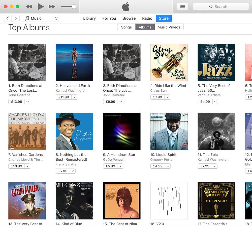 iTunes No.4 jazz Chart