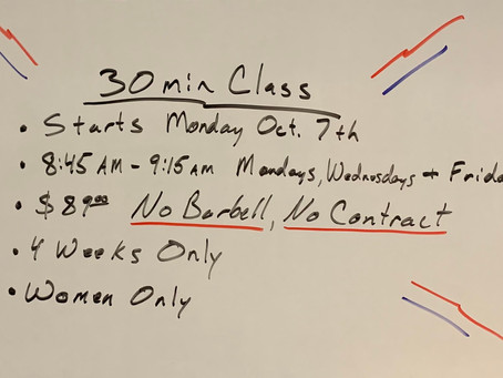 New Ladies Only Class