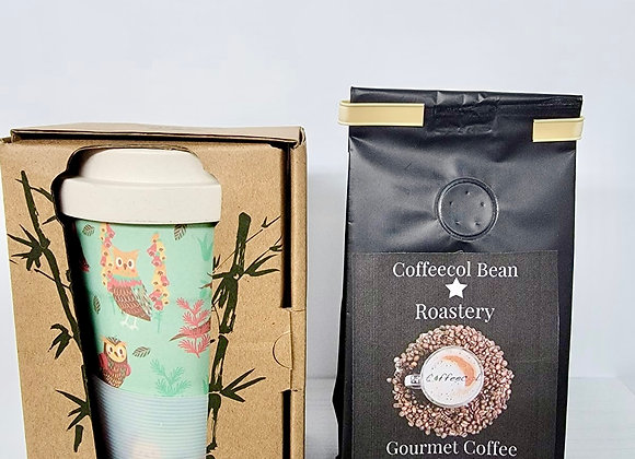 ECO FRIENDLY COFFEE CUP & GROUND CAFE