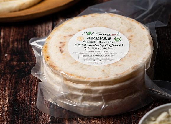 "Gluten Free Bread 2 Pck - ""AREPAS"" - 10 Arepas"