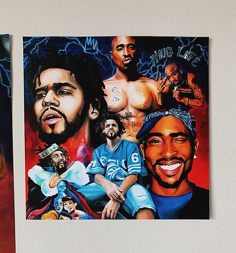 Tupac x J Cole Collage