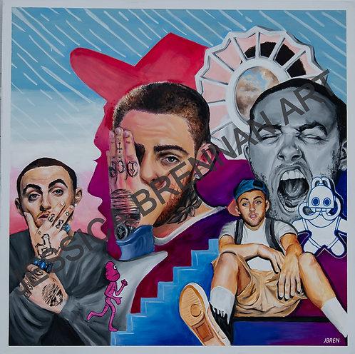 Mac Miller Collage-  Digital File
