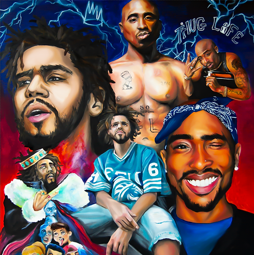 Tupac x J Cole Collage- DIGITAL FILE