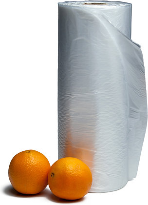 "12"" x 17"" Plain Produce Bags on Roll (4000/Case)"