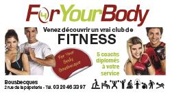 PUB_For Your Body - Course à pied - Course des géants