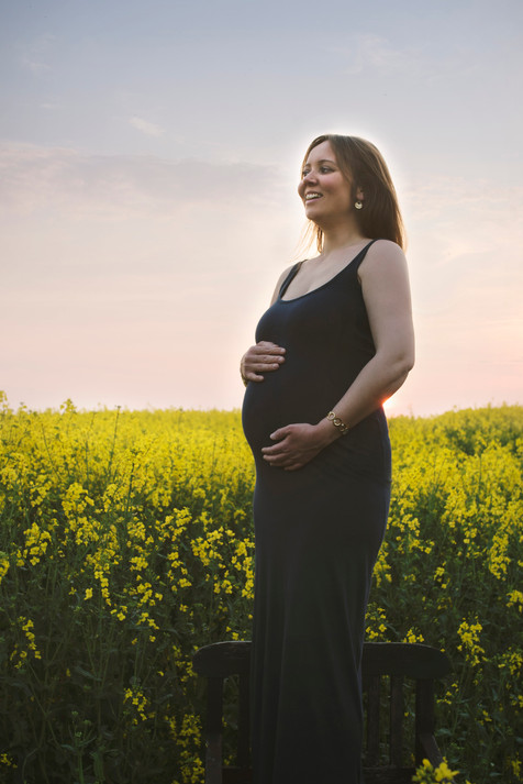 Gravid i rapsmarken