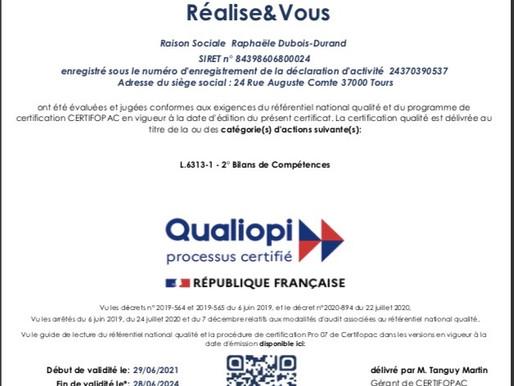 Certification Qualiopi !