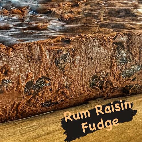 Rum Raisin Fudge