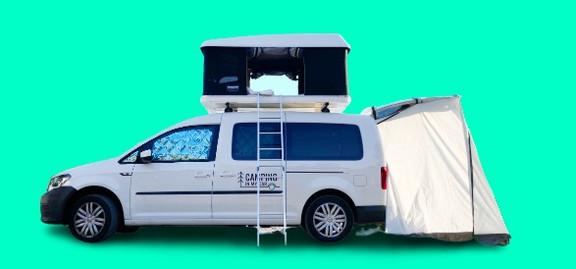 Camping Caddy Colonius mit Heckzelt