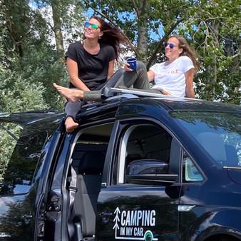 Camping in my Car - Black Caddy
