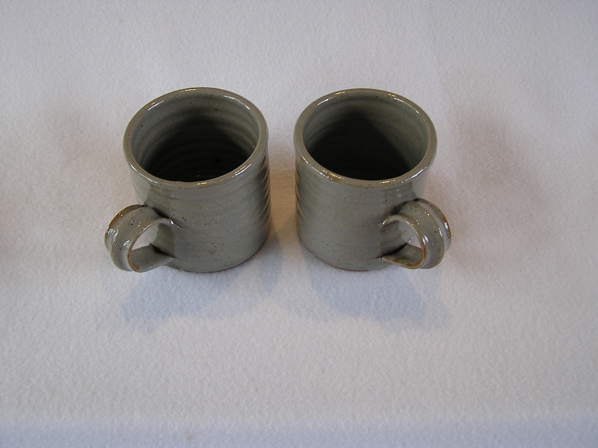 Cup- Coffee, Set of 2 Dove Grey 3x3 in (