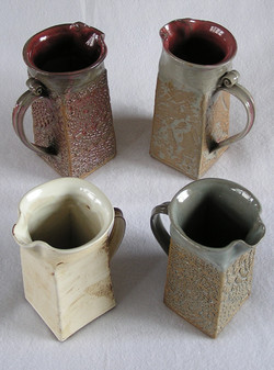 Pitcher- Handbuilt Square Group B 8 in A