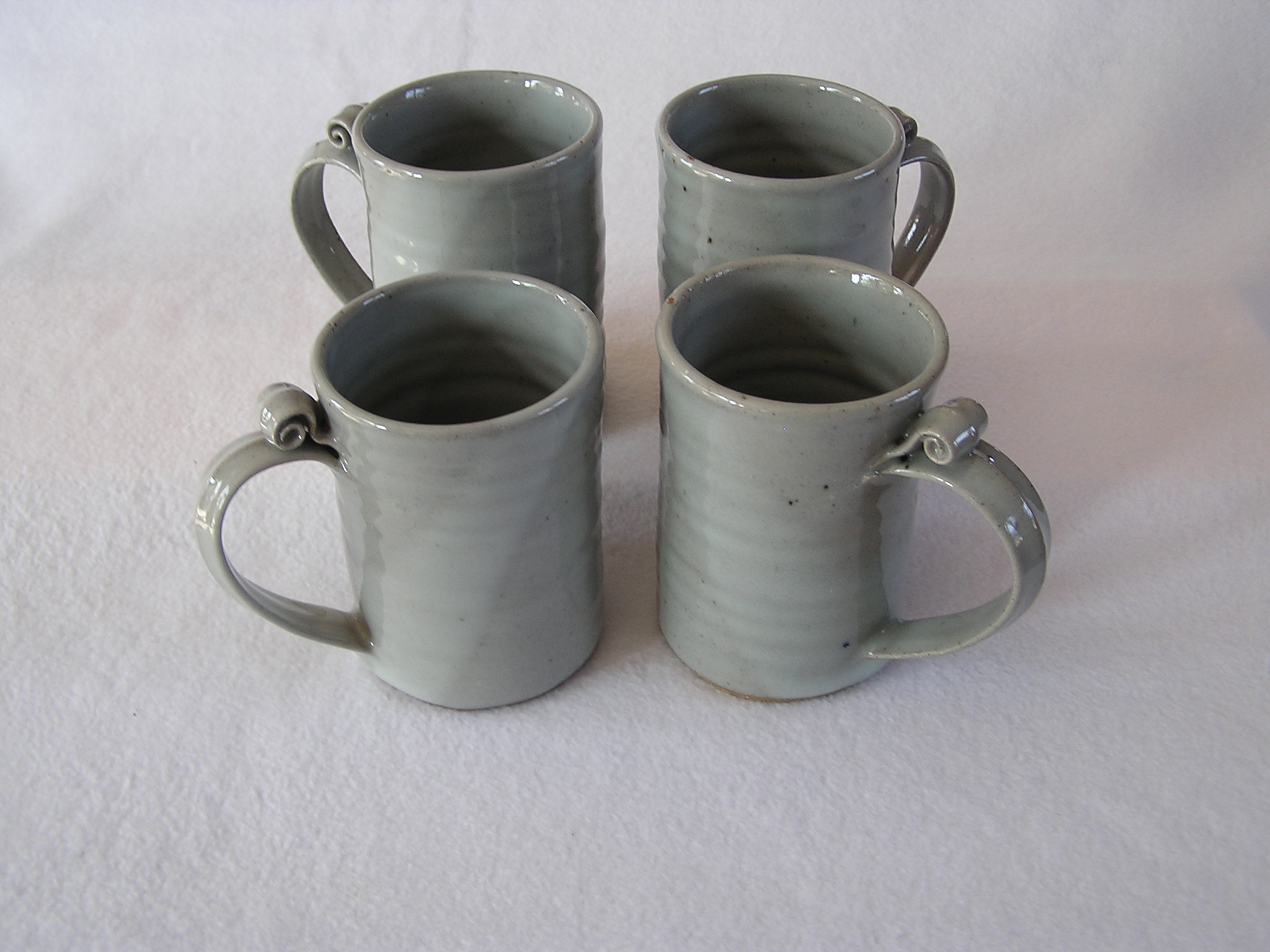 Mugs- 5x3 in D802 Dove Grey Set 4 (NFS).