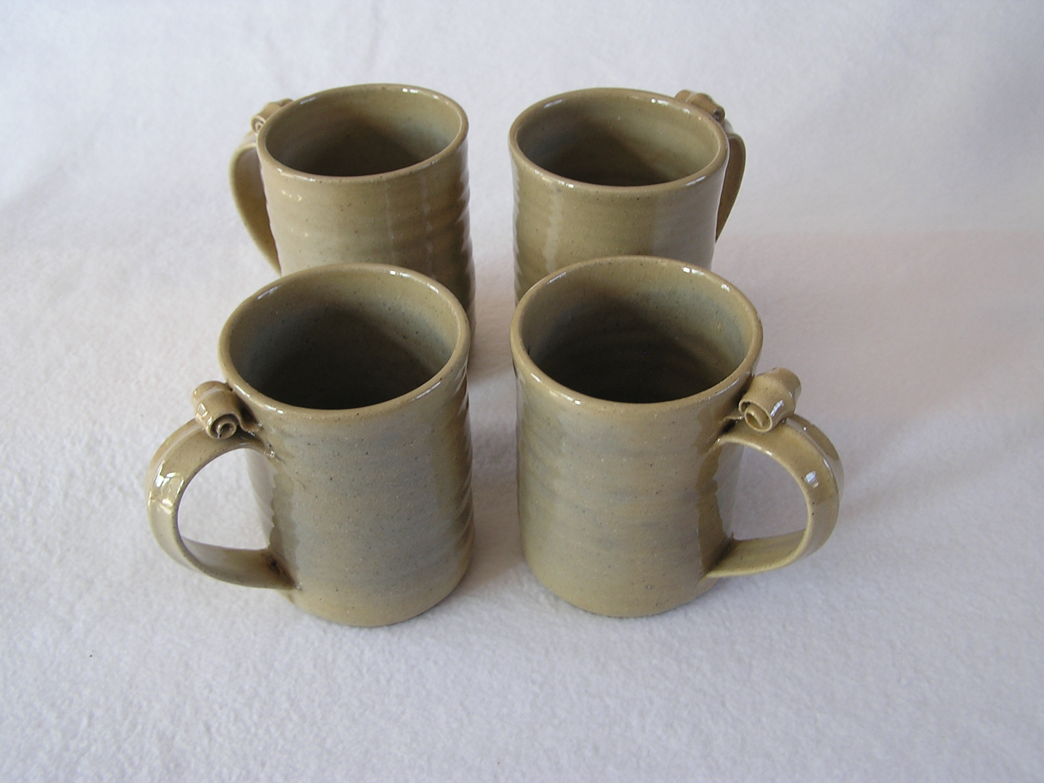 Mugs- 4.5x3 in D804 Kahki Set 4 (NFS)