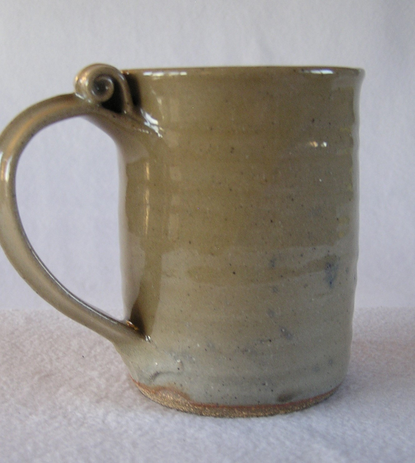 Mug- Olive w Grey Highlight 4.5x3