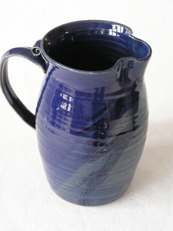 Pitcher- Blue w Cobalt Accent 7 in (NFS)