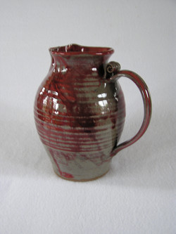 Pitcher- 8 in Group A.1 Olive-Ruby 9x5