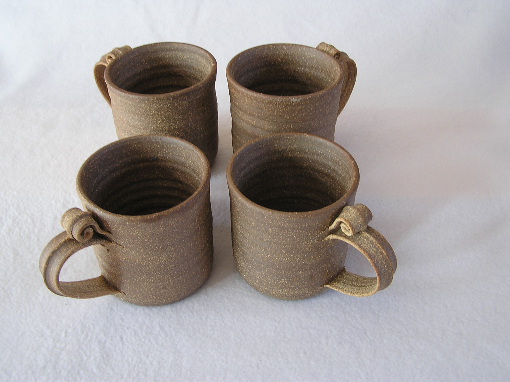 Mugs- 4x3 in D806 Natural No Glaze Set 4