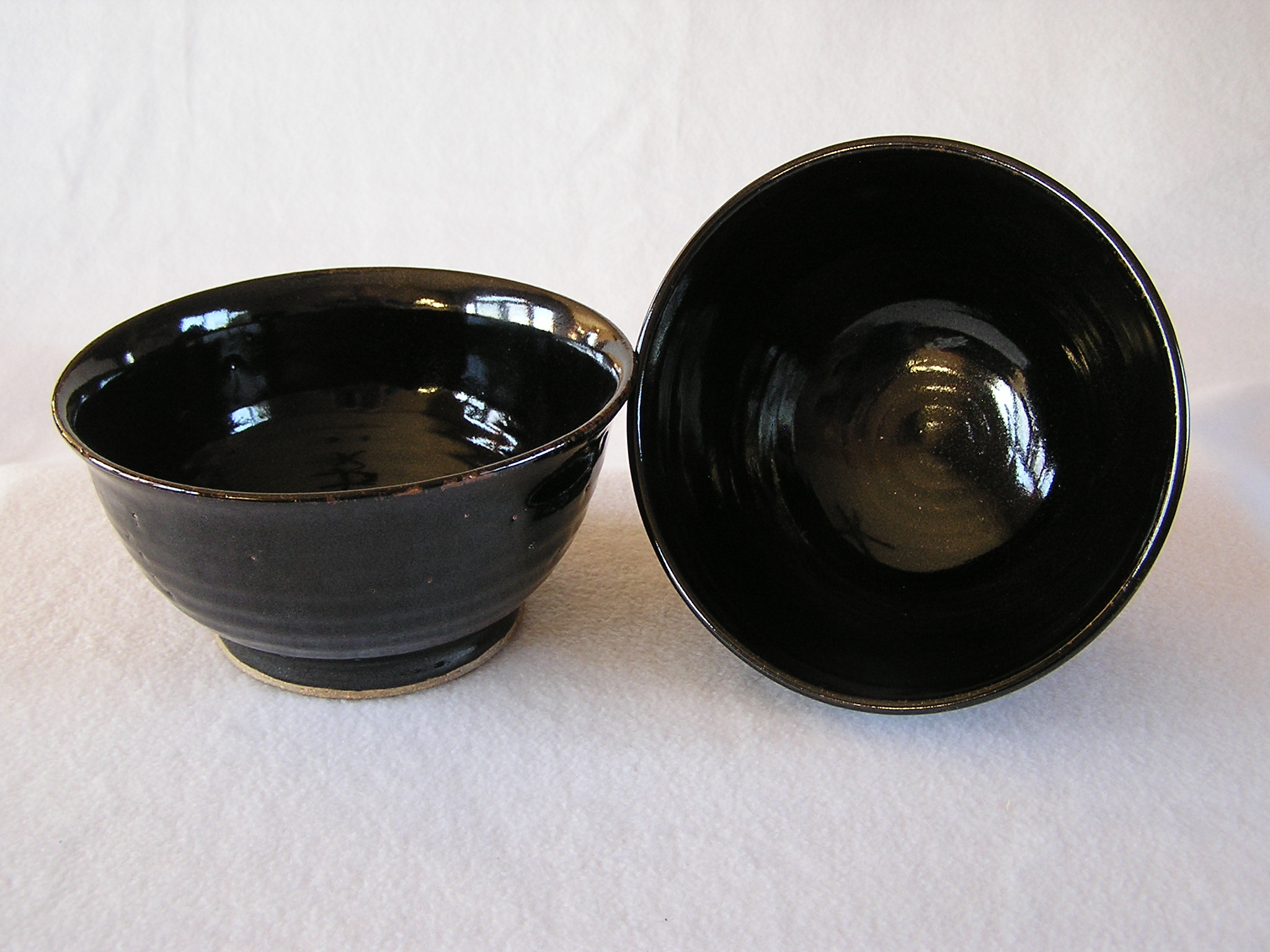 Bowl- Black Onyx 4x7.5 in set 2 (NFS)