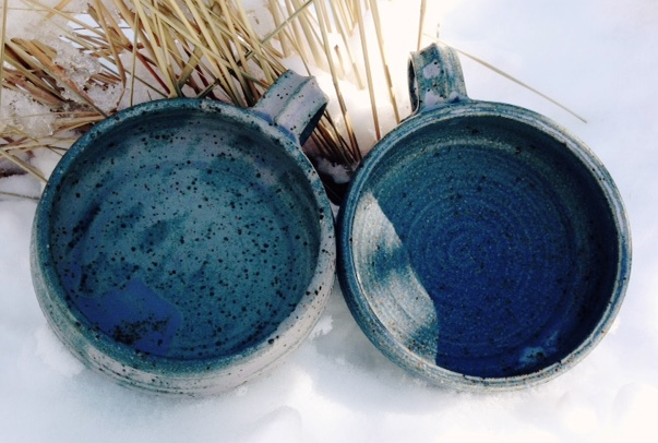 Bowl- Soup, Blue Pulled Handle (NFS)