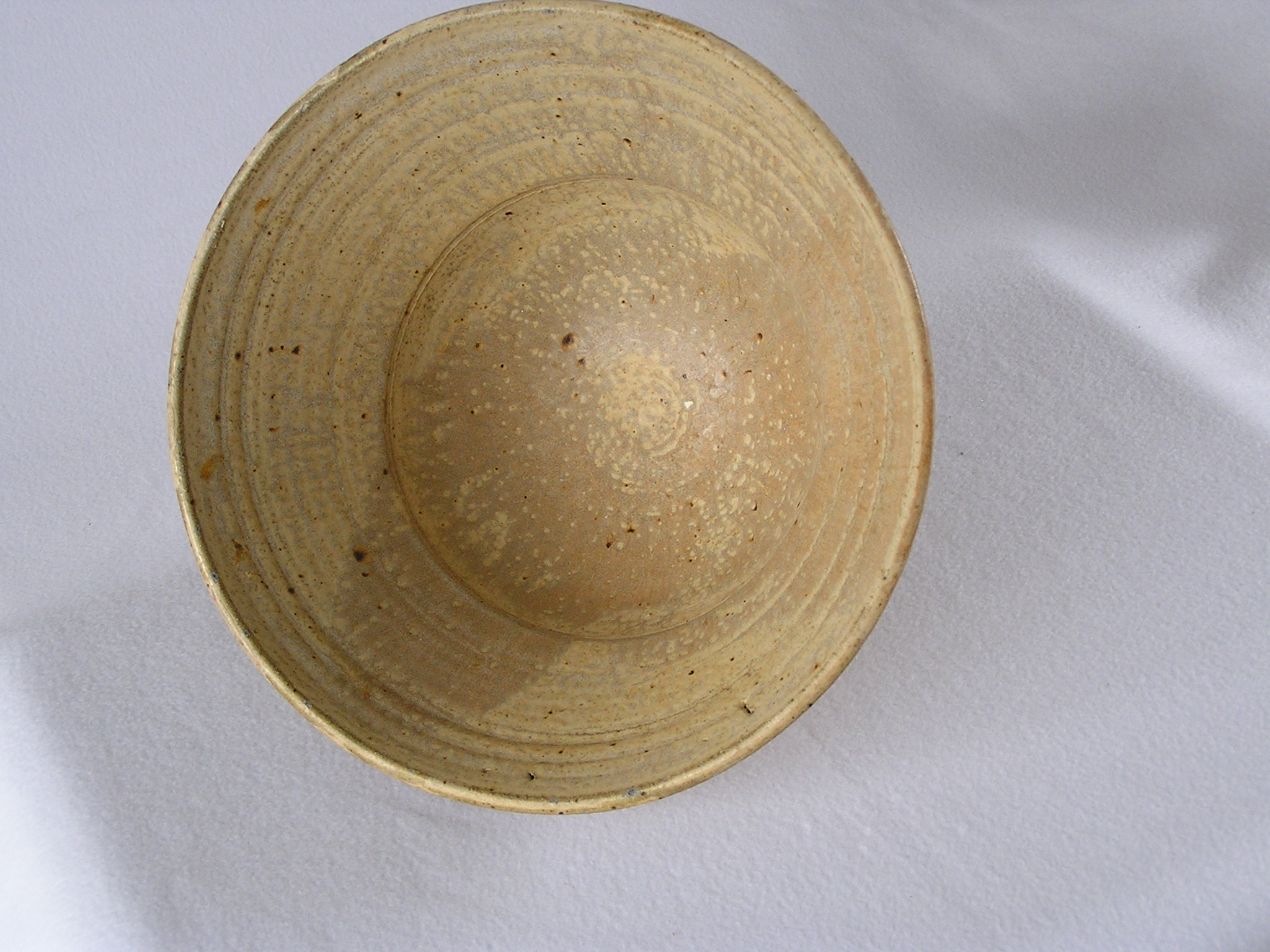 Bowl- Flared RIm, Tan w Brown Accent 6x1