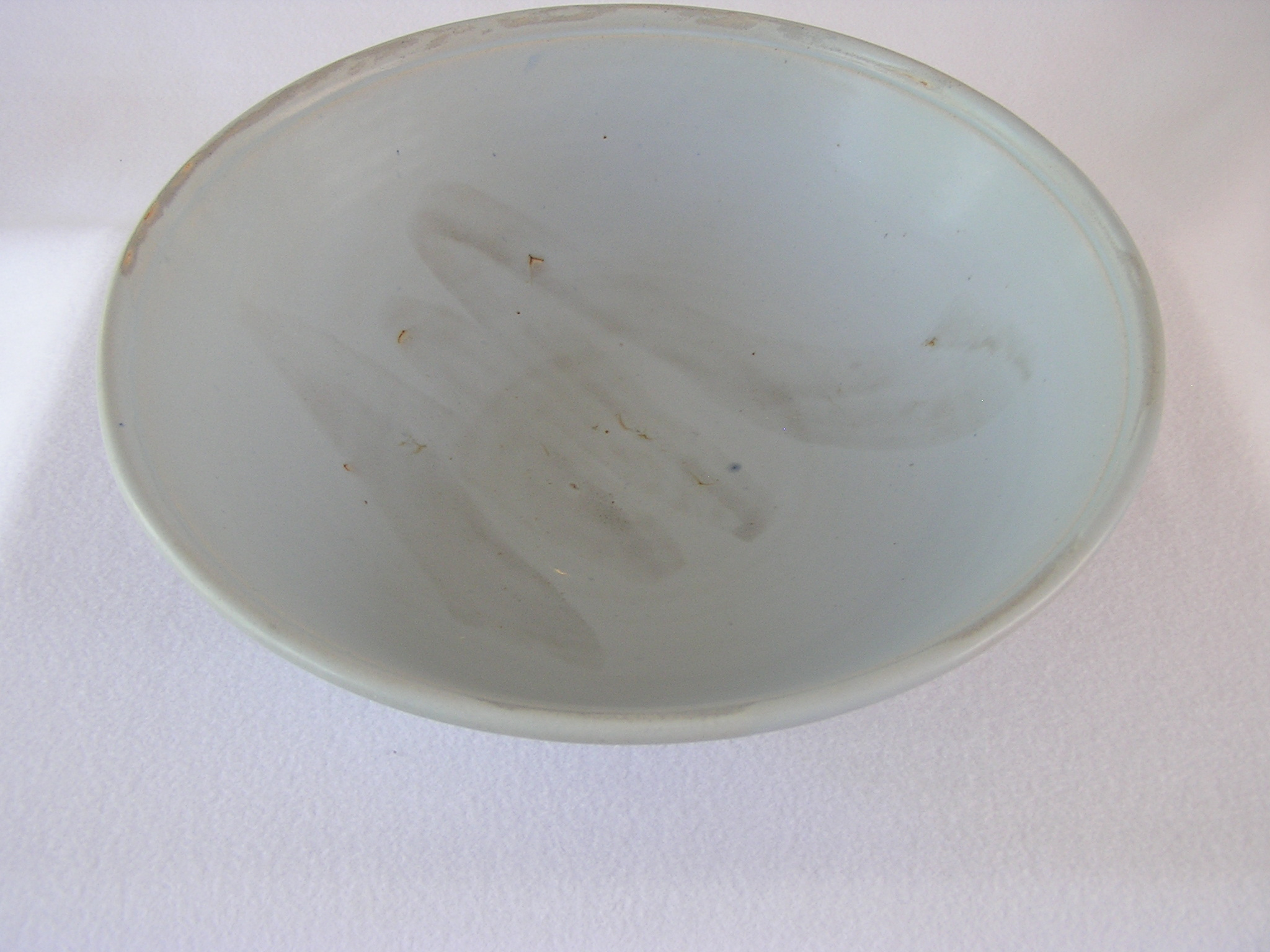 Bowl- Dusty Blue w Pale Grey Accent 5x14